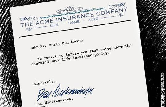 Osama's bin Cancelled! - life insurace humor